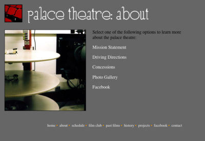 Website v1: About | Palace Theatre