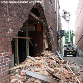 Collapsed wall | Palace Theatre