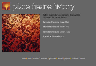 Website v1: History| Palace Theatre
