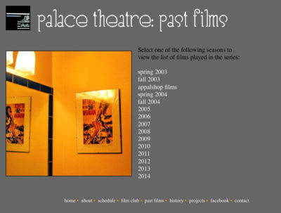 Website v1: Past Films| Palace Theatre